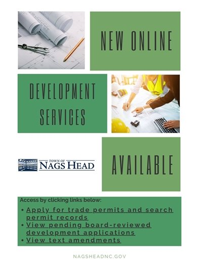 New Online Development Services Available at nagsheadnc.gov
