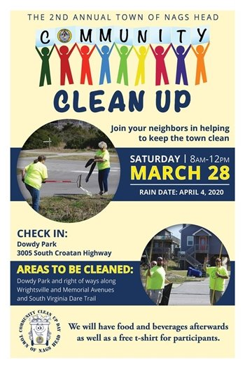 Nags Head Community Clean Up March 28