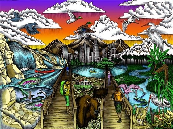 National Wildlife Refuges offer many opportunities to enjoy the outdoors and catch a glimpse of some of our nation's colorful fish and wildlife. If you can't enjoy it in person, take a break and experience these places through their Find Your Way coloring page series.