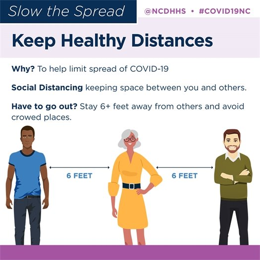 Slow the spread by keeping healthy distances.