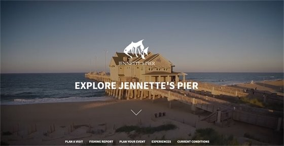 Watch the surf off of Jennette's Pier live from the pier's web site.