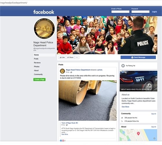 Nags Head's Police Department Has a Facebook Page