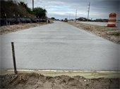 Multi Use Path Construction in Nags Head - Please Stay Out of the Area