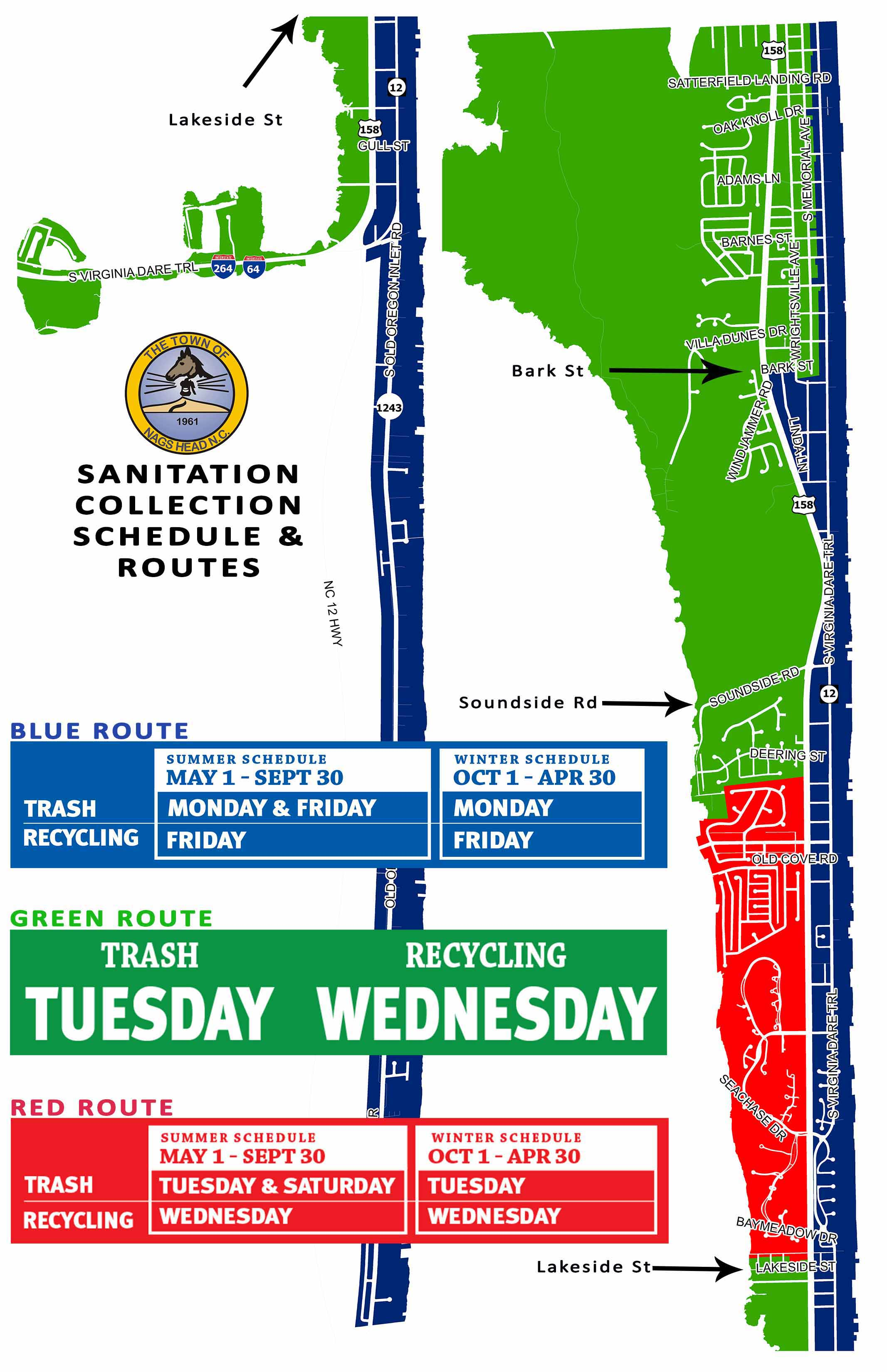 Nags Head Sanitation Schedule 2017 2018
