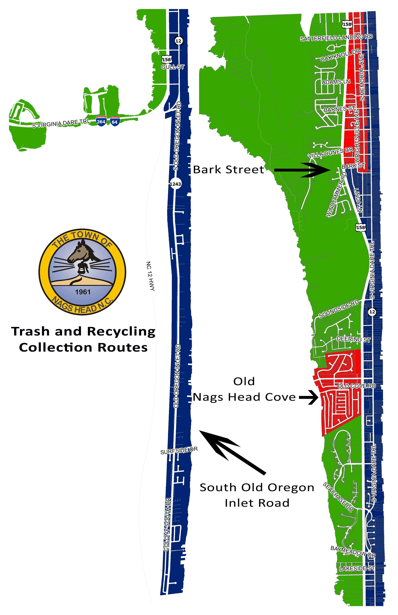 Town of Nags Head Trash and Recycling Routes