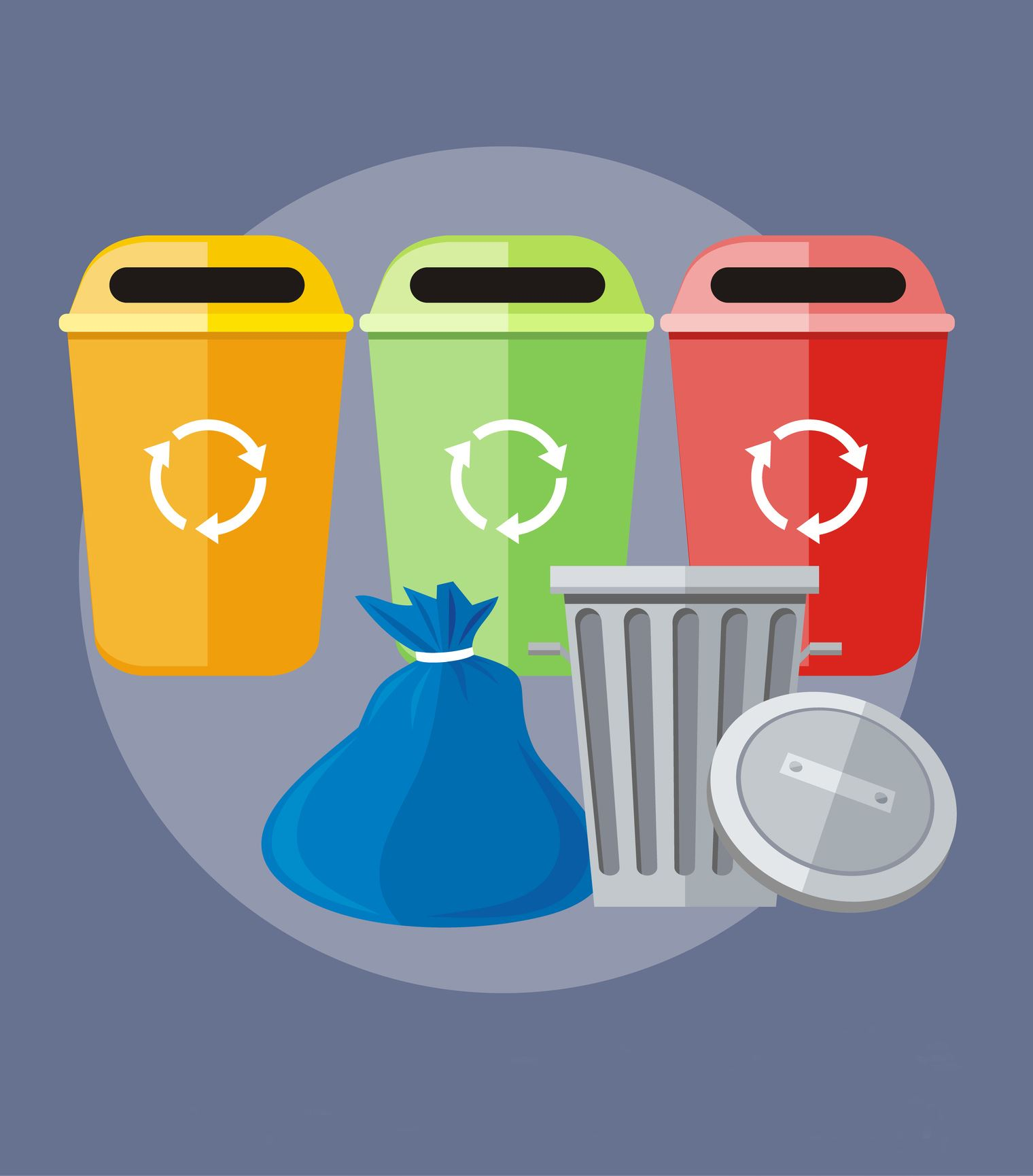 Trash and Recycling Receptacles News Flash sch change pic