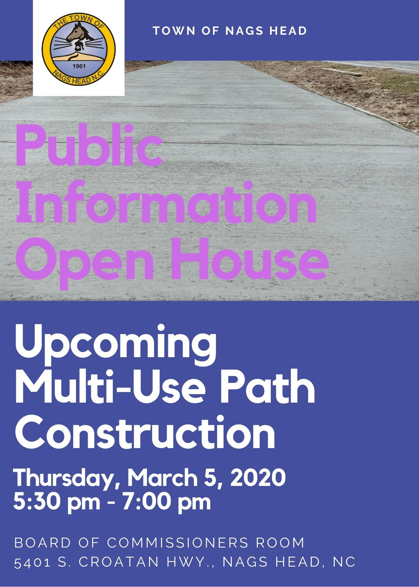 Public Information Open House - Upcoming Multi Use Path Construction