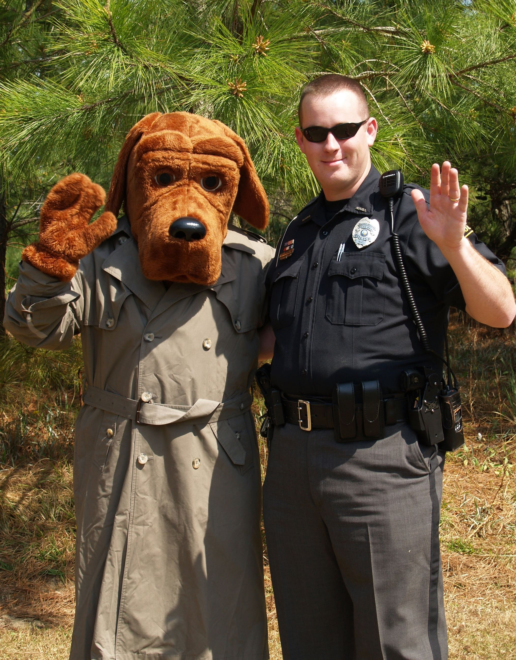 McGruff the Crime Dog and an officer