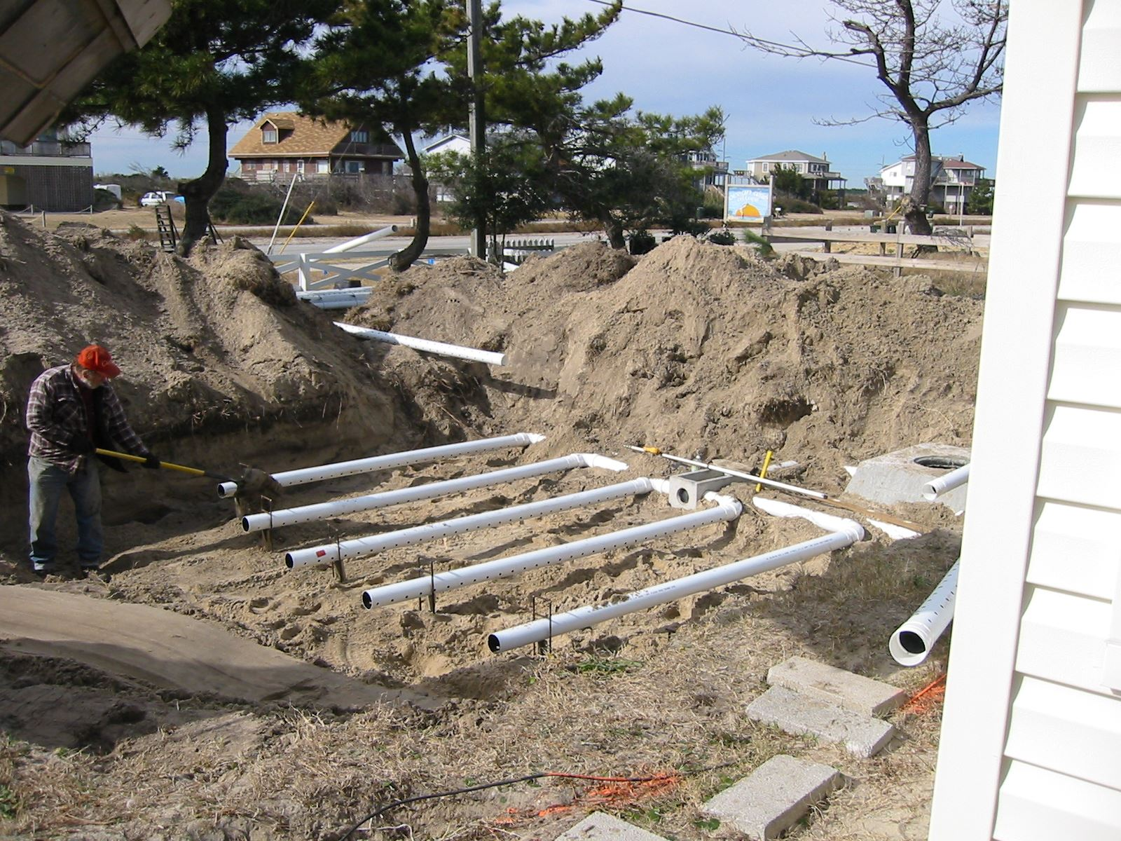 Uncovered Septic System