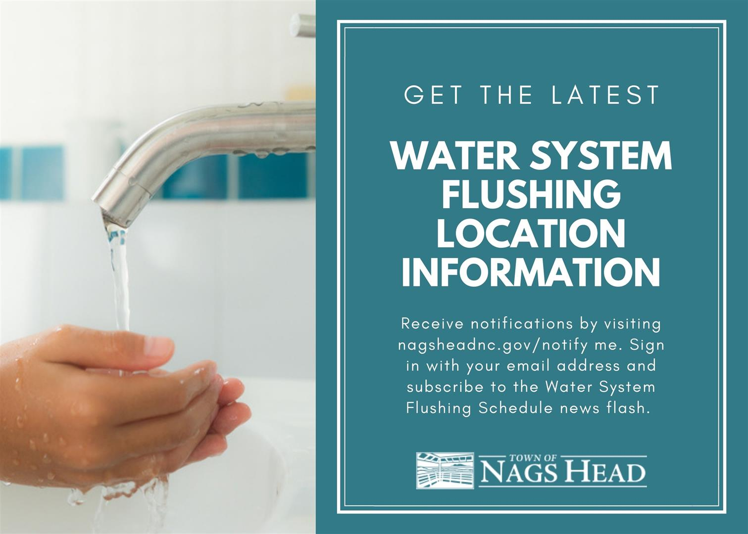 Sign up for Water Flushing Notifications