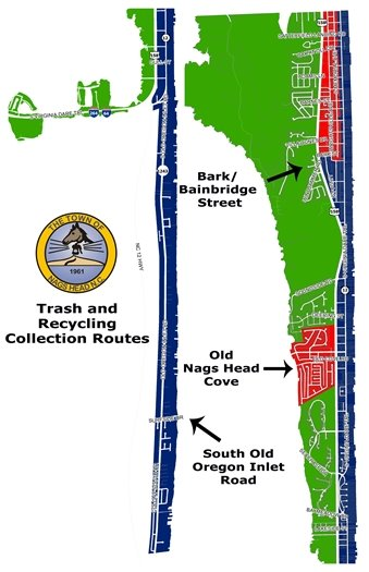 Town of Nags Head Trash and Recycling Collection Routes 2020
