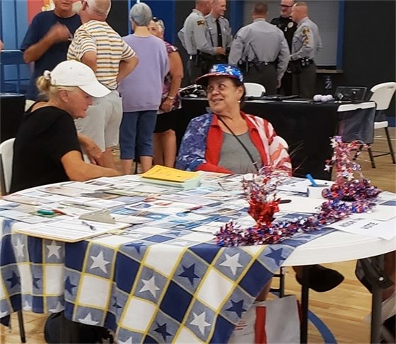 Hanging out at Nags Head's National Night Out on August 6, 2019.