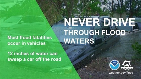 Never Drive Through Flood Waters