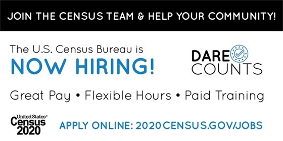 U.S. Census Bureau is Hiring!