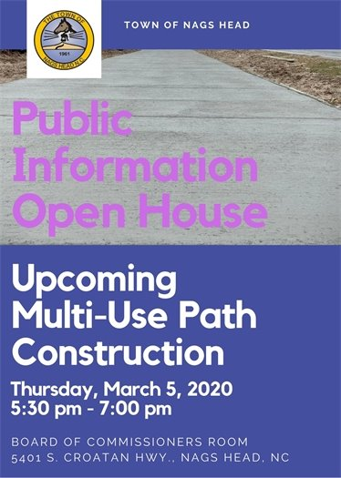 Public Information Open House - Upcoming Multi-Use Path Construction