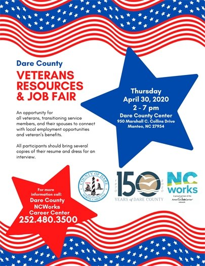 Dare County Veterans Resources and Job Fair Planned