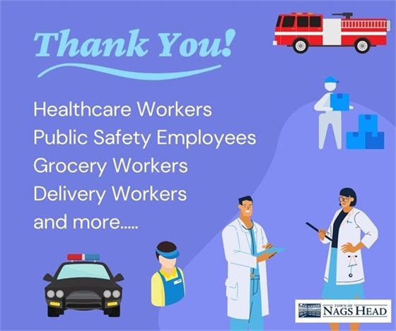 Thank you to everyone working the front lines of the pandemic.