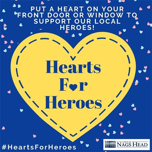 Put a heart on your front door or window to support your local heroes.