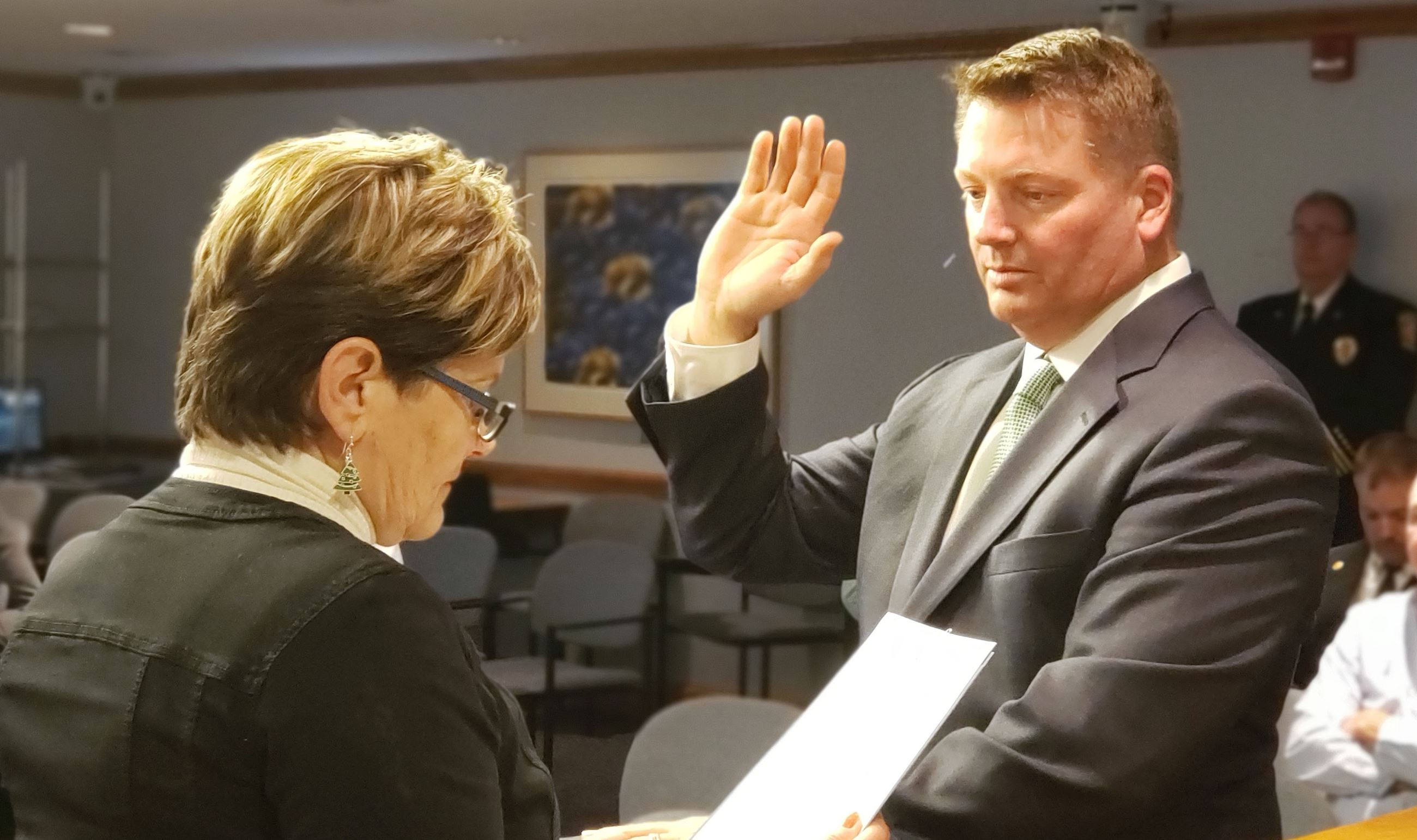 Mike Siers Swearing In Dec 4 2019