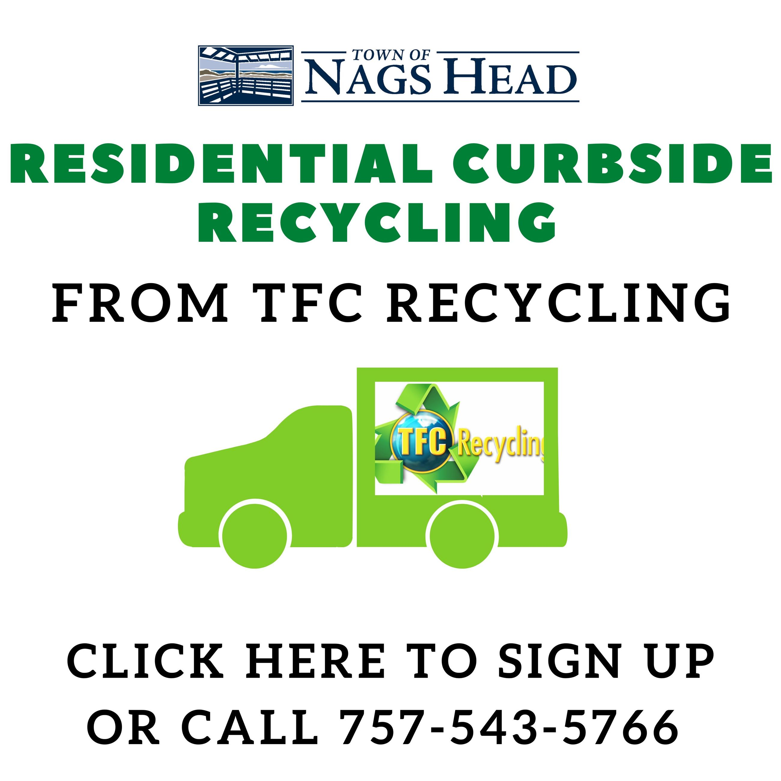 Sign up with TFC for Curbside Recycling