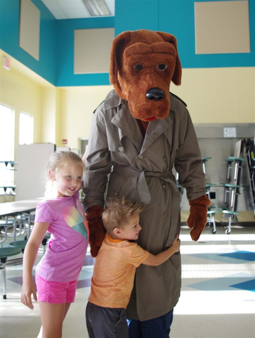 Mcgruff Crime Dog and children
