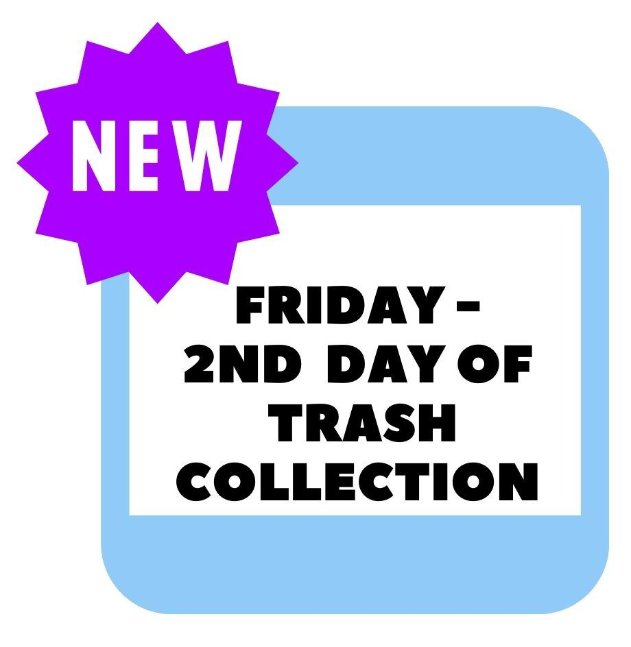 Second Day of Trash Collection March 2021